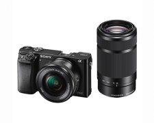 Sony Alpha A6000 ICL systeemcamera Zwart + 16-50mm OSS + 55-210mm OSS